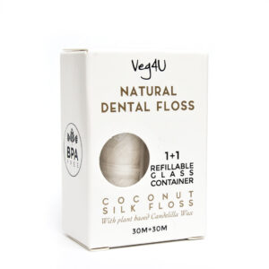 Natūralus šilkinis kokosinis dantų siūlas, VEG4U