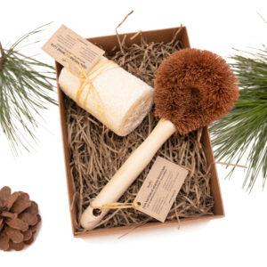 Kokoso šveistukas ir kempinė lufa