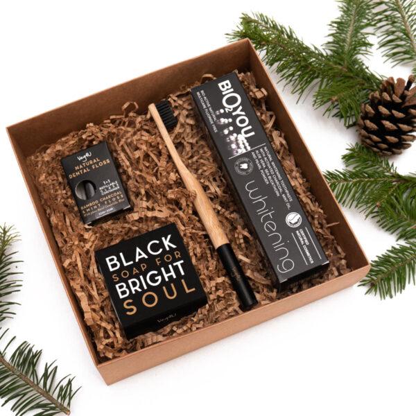 Bambuko anglies produktų dovanų rinkinys