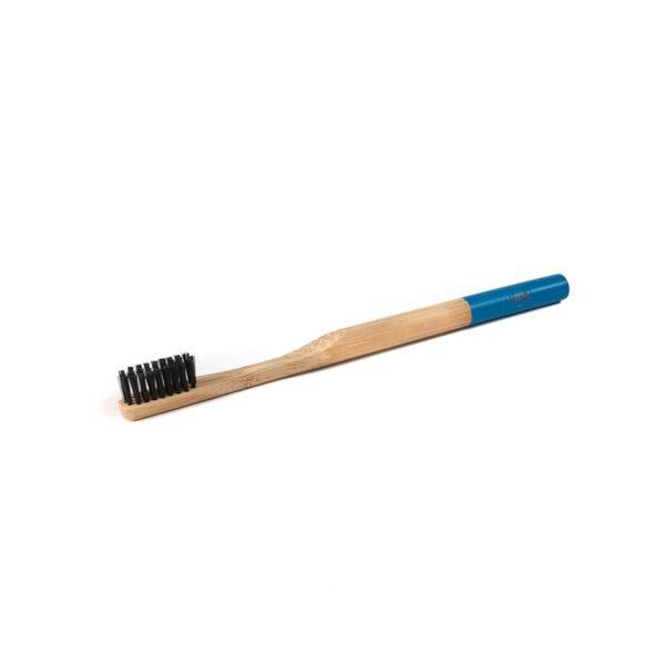 Bambukinis dantų šepetėlis mėlynu koteliu, Veg4U