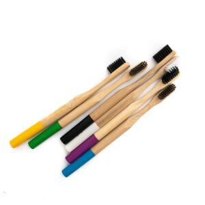 Bambukiniai dantų šepetėliai