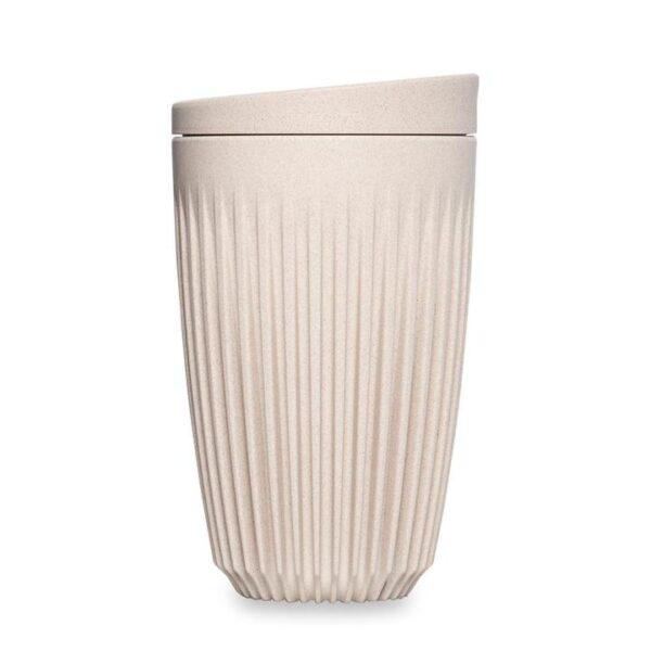 Puodelis iš kavos tirščių, Baltas 355 ml.